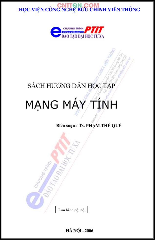 [PDF] Giáo Trình Mạng Máy Tính - Đào tạo từ xa PTIT