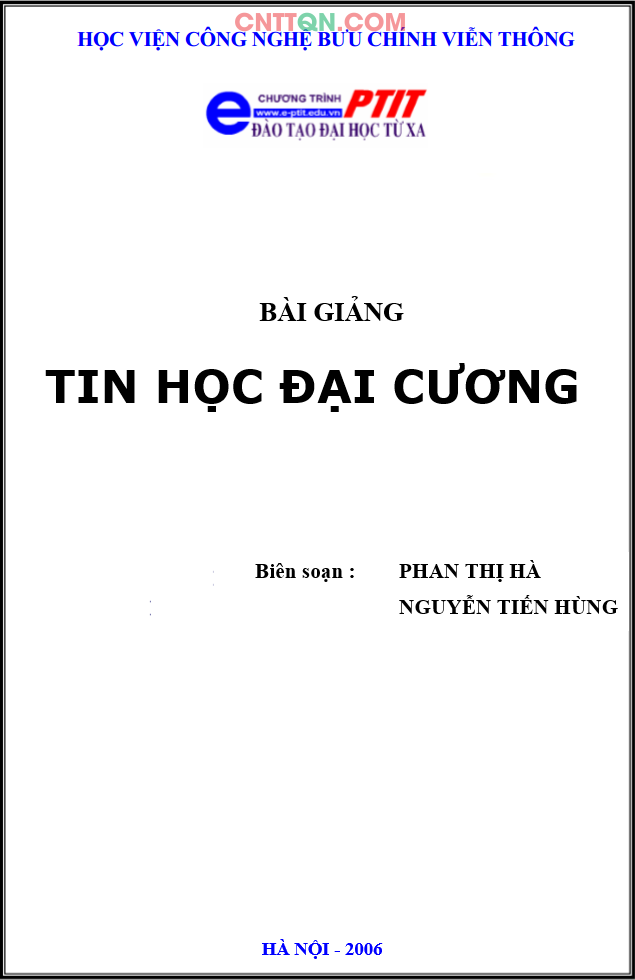 [PDF] Giáo Trình Tin Học Đại Cương - Đào tạo từ xa PTIT