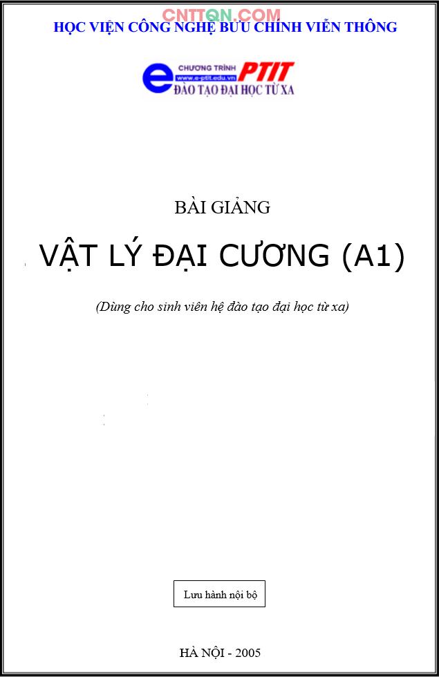 [PDF] Giáo Trình Vật Lý Đại Cương (A1) - Đào tạo từ xa PTIT