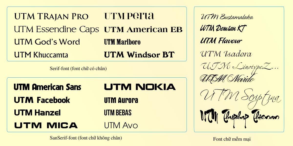 [Full] 195 Font UTM đẹp cho dùng trong thiết kế