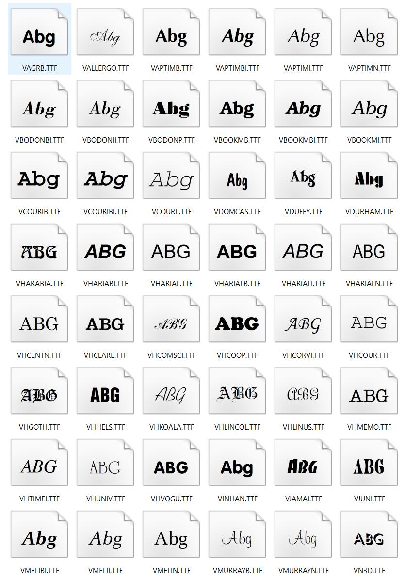 [Full] 308 Font VNI đầy đủ đẹp cho Windows