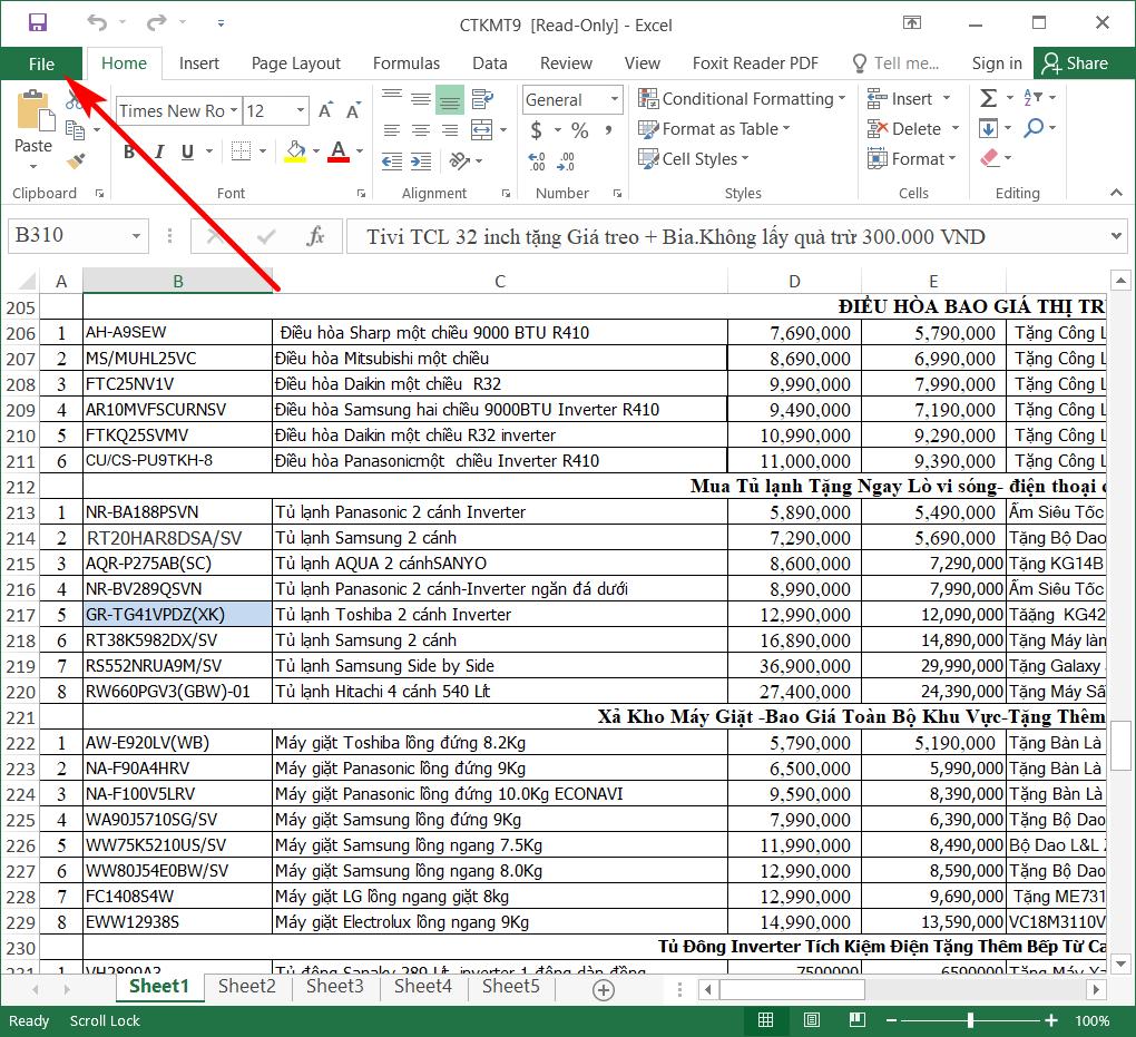Hướng dẫn đặt mật khẩu cho file Excel 2016